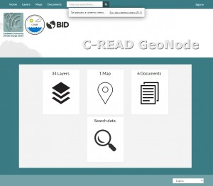 GeoNode customized User Interface for the C-READ Project