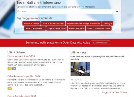 Alto Adige OpenData Portal