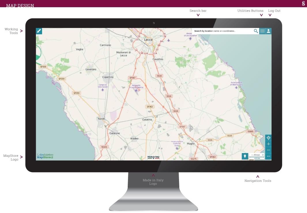 MapStore MapView on desktop