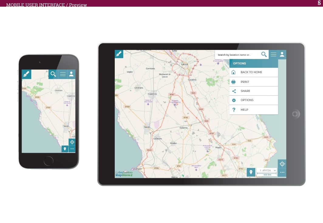 MapStore MapView on mobile