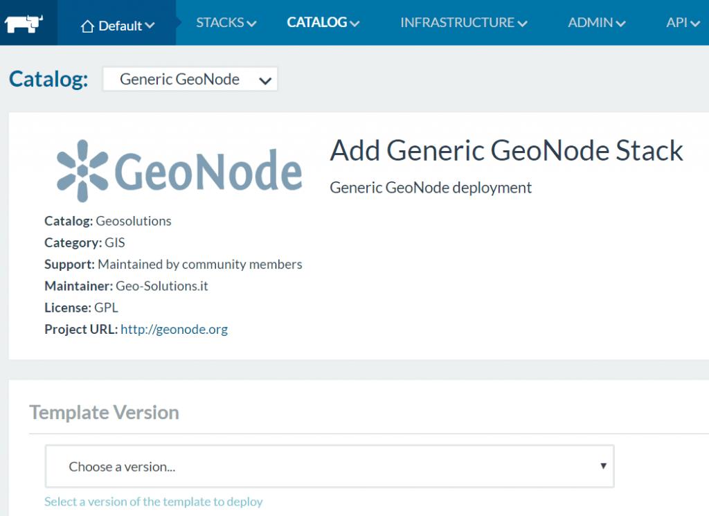 GeoNode Generic Rancher template