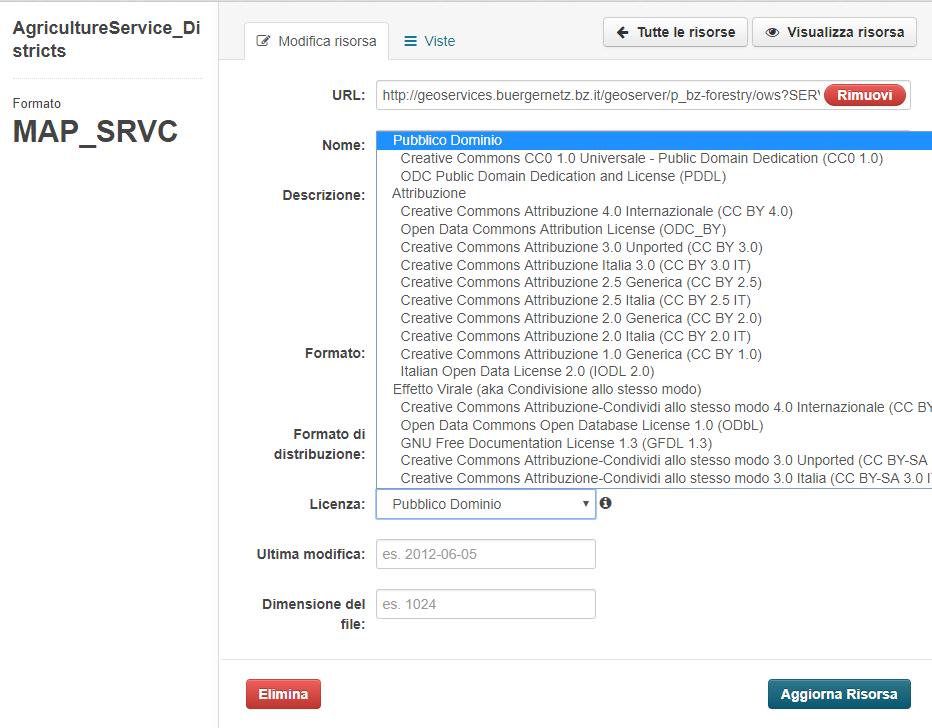 Nuove facet di ricerca disponibili nella schermata di ricerca