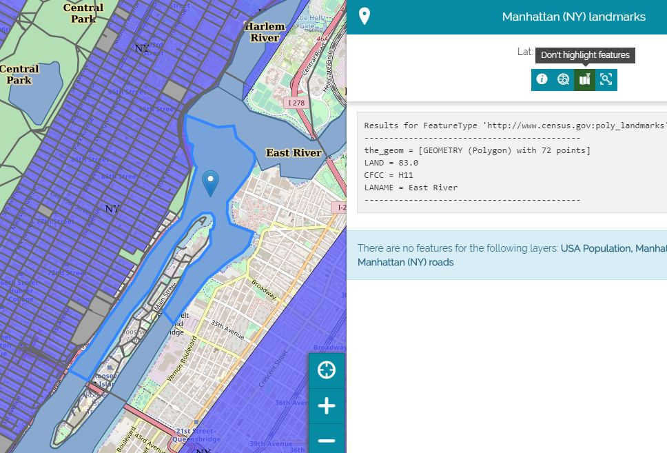 Highlight features on map with the improved Identify tool