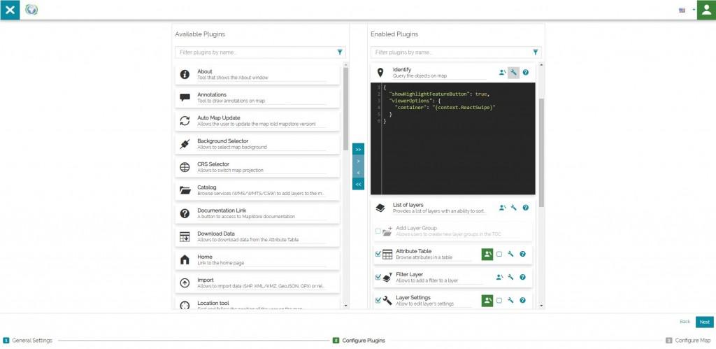 Application Context Wizard - Plugins Configuration