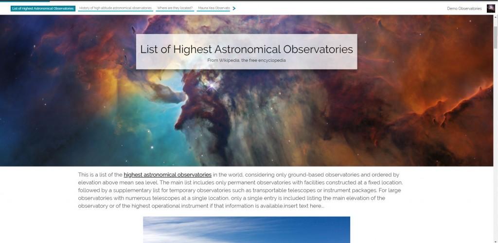 GeoStory - Shared Story