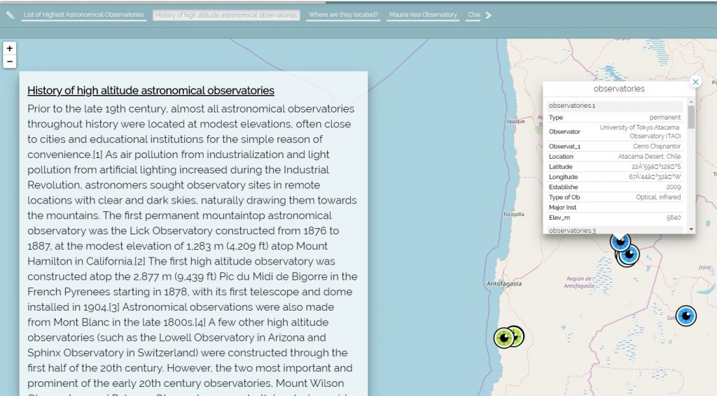 GeoStory - Map Tooltip component for Identify operations