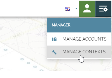 Application Context - Opening the manager from home