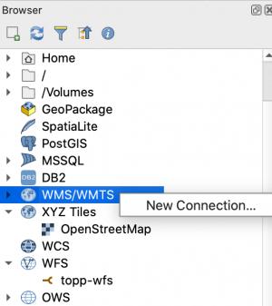 QGIS Browser Add New WMS Service
