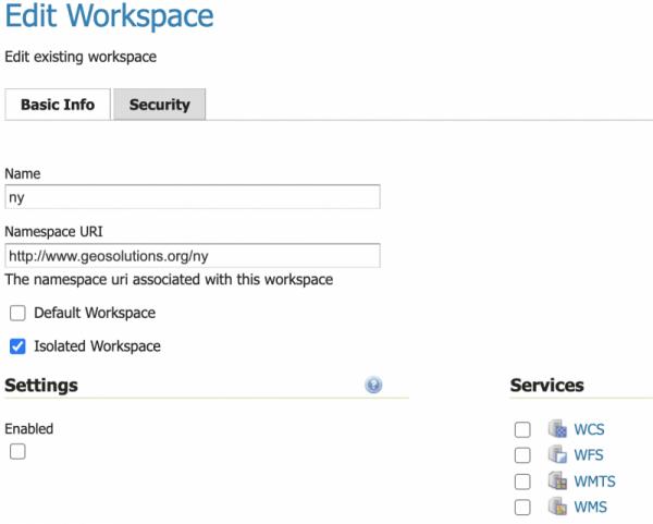 Workspaces Basic Configuration