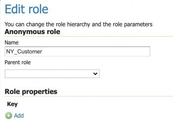 Edit role form